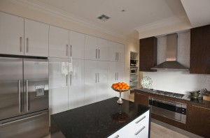 Ample storage cabinetry