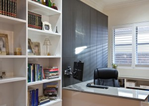 Home Office fit-outs, Shelving and storage units, benchtops.